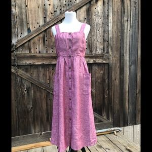 NWT Rachel Zoe Red Linen Midi Dress Size 6